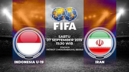 Pertandingan Indonesia U-19 vs Iran. - INDOSPORT