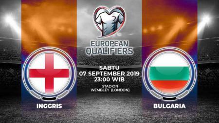 Pertandingan Inggris vs Bulgaria. - INDOSPORT