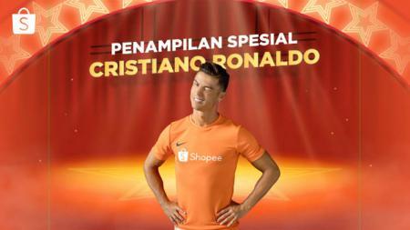 Cristiano Ronaldo akan tampil spesial di acara Shopee 9.9 Super Shopping Day. - INDOSPORT