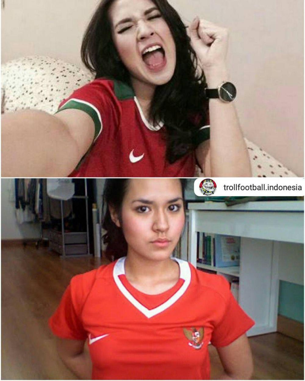 Raisa Andriana Copyright: IG Troll Football