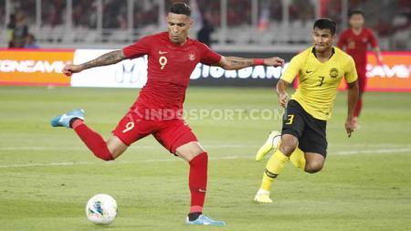 Pelatih Timnas Indonesia U-23, Indra Sjafri mengonfirmasi kemungkinan besar tak membawa striker senior, Beto Goncalves ke SEA Games 2019 di Filipina. - INDOSPORT