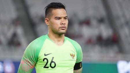 Kapten Timnas Indonesia, Andritany Ardhiyasa, dan pelatih Shin Tae-yong diketahui memberikan pilihan yang berbeda dalam voting penghargaan Pemain Terbaik FIFA. - INDOSPORT