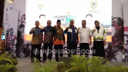 Olahraga dan mainan daerah khas Kalimantan Selatan curi perhatian di Gebyar Haornas 2019. - INDOSPORT