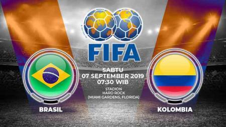Brasil vs Kolombia - INDOSPORT