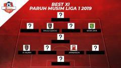 Indosport - Starting terbaik paruh musim Liga 1 2019.