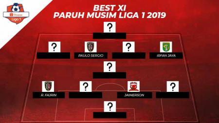 Starting terbaik paruh musim Liga 1 2019. - INDOSPORT