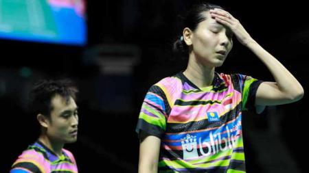 Pasangan ganda campuran Indonesia, Hafiz Faisal/Gloria Emmanuelle Widjaja, harus takluk dari unggulan China pada hari pertama Indonesia Masters 2020 dengan 2 set langsung - INDOSPORT