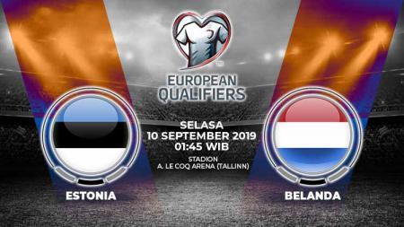 Pertandingan Estonia vs Belanda. - INDOSPORT