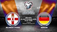 Indosport - Pertandingan Irlandia Utara vs Jerman.