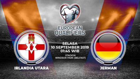 Pertandingan Irlandia Utara vs Jerman. - INDOSPORT