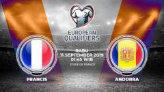 Indosport - Prancis di atas kertas bisa mengandaskan Andorra dalam laga keenam grup H Kualifikasi Euro 2020 di Stade de France, Rabu (11/9/19) pukul 01.45 WIB.