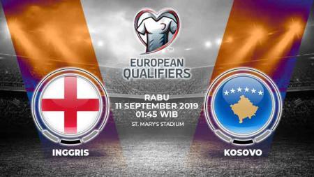 Laga lanjutan Kualifikasi Euro 2020 antara Inggris vs Kosovo akan berlangsung pada Rabu (11/9/19) dini hari WIB. Berikut link live streaming pertandingan tersebut. - INDOSPORT