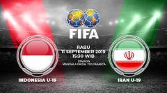 Indosport - Pertandingan Indonesia U19 vs Iran U19.