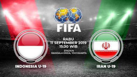 Pertandingan Indonesia U19 vs Iran U19. - INDOSPORT