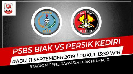 Prediksi pertandingan Liga 2 2019 antara PSBS Biak Numfor menghadapi Persik Kediri yang digelar di Stadion Cendrawasih, Biak, Rabu (11/09/19). - INDOSPORT