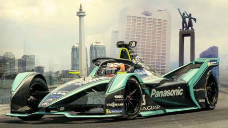 Ilustrasi Formula E jadi di Jakarta. - INDOSPORT