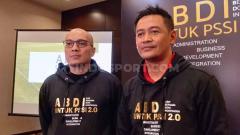 Indosport - Acara deklarasi Arif Putra Wicaksono dan Doni Setiabudi untuk maju sebagai Caketum dan Cawaketum PSSI periode 2020-2024 pada Senin (09/09/19) di Hotel Fairmont, Senayan, Jakarta.