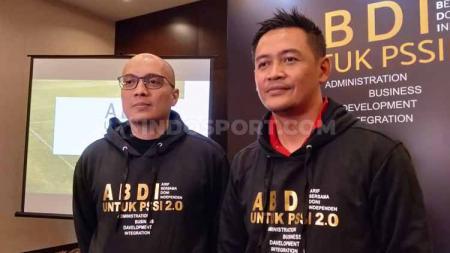Acara deklarasi Arif Putra Wicaksono dan Doni Setiabudi untuk maju sebagai Caketum dan Cawaketum PSSI periode 2020-2024 di Hotel Fairmont, Senayan, Jakarta, Senin (9/9/19). - INDOSPORT