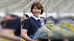 Indosport - Reiko Shiota pebulutangkis Jepang, yang kecantikannya tak kalah dari Gronya Somerville.
