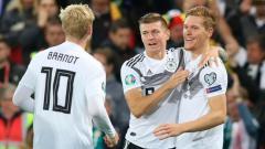 Indosport - Terdapat 3 rekor yang tercatat dalam sejarah usai hasil pertandingan Kualifikasi Euro 2020 antara Jerman vs Belarusia berakhir kemenangan 4-0 bagi Der Panzer.