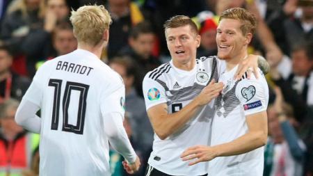 Terdapat 3 rekor yang tercatat dalam sejarah usai hasil pertandingan Kualifikasi Euro 2020 antara Jerman vs Belarusia berakhir kemenangan 4-0 bagi Der Panzer. - INDOSPORT