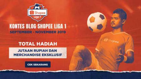 Kontes Blog Shopee Liga 1 dengan total hadiah jutaan rupiah. - INDOSPORT