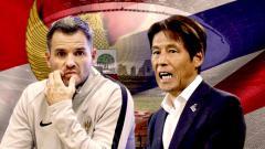 Indosport - Adu strategi pelatih Timnas Simon McMenemy vs Akira Nishino
