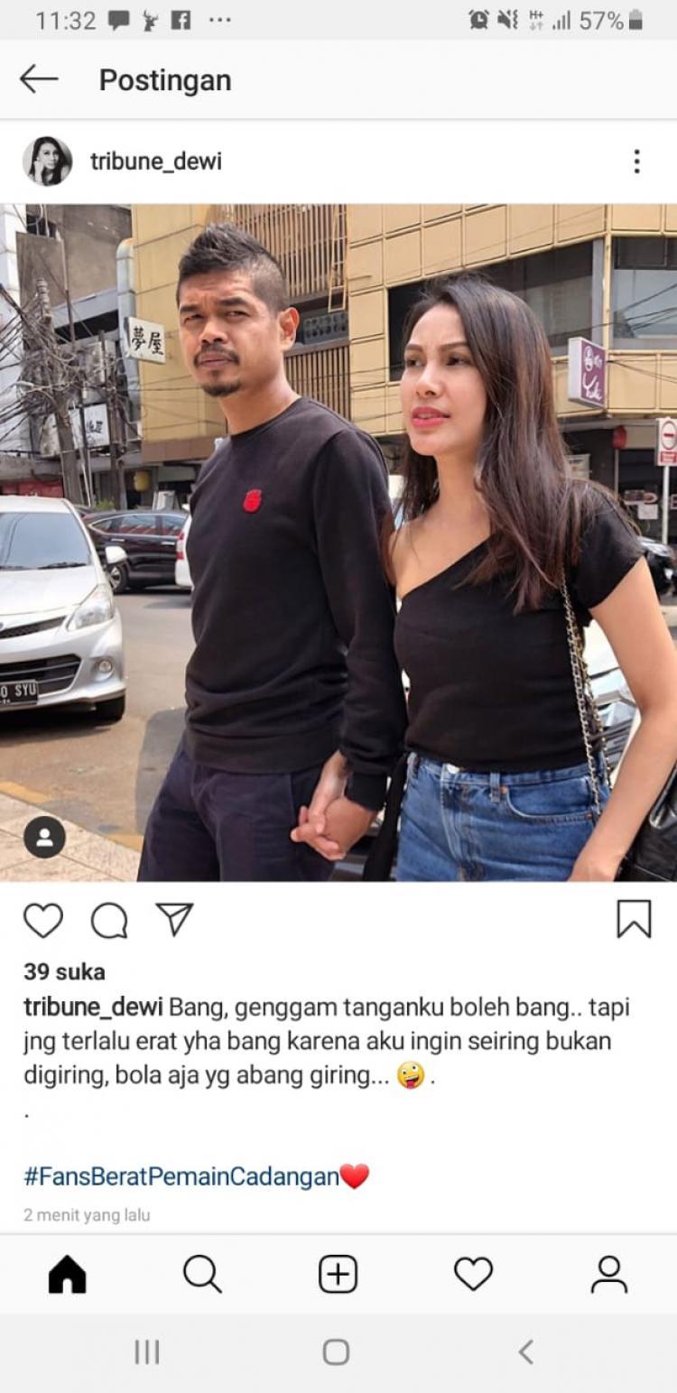 Postingan Tribuana Tungga Dewi untuk Bambang Pamungkas Copyright: Instagram/tribune_dewi