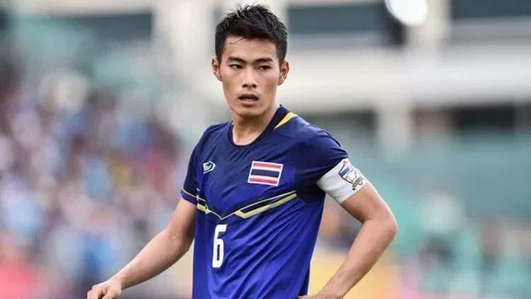 Gelandang Timnas Thailand, Sarach Yooyen. Copyright: Port FC