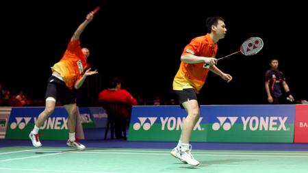 Semenjak pasangan Candra Wijaya/Tony Gunawan sukses naik podium di tahun 2006 pagelaran Korea Open, apakah di tahun 2019,ganda putra Indonesia bisa naik podium? - INDOSPORT