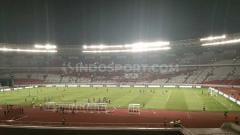 Indosport - Laga Timnas Indonesia vs Thailand dalam Kualifikasi Piala Dunia 2022 sepi penonton.