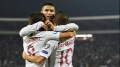 Indosport - Ronaldo melakukan selebrasi di laga Lithuania vs Portugal di ajang Kualifikasi Euro 2020, Rabu (11/09/19).