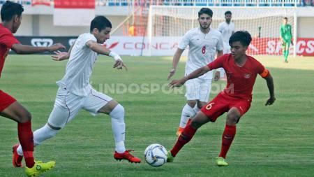 Laga pertandingan Timnas Indonesia U19 vs Iran di Stadion Mandala Krida, Yogyakarta, Rabu (11/09/19). - INDOSPORT