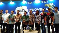 Indosport - Konferensi Pers Yuzu Indonesia Masters 2019 di salah satu hotel bilangan Sudirman, Jakarta, Rabu (11/09/19).