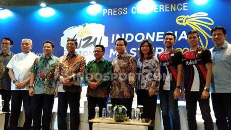 Konferensi Pers Yuzu Indonesia Masters 2019 di salah satu hotel bilangan Sudirman, Jakarta, Rabu (11/09/19). - INDOSPORT