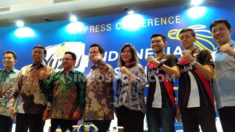Konferensi Pers Yuzu Indonesia Masters 2019 di salah satu hotel bilangan Sudirman, Jakarta, Rabu (11/09/19). Copyright: Shintya Anya Maharani/INDOSPORT