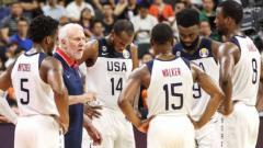 Indosport - Gregg Popovich bersama skuat timnas basket Amerika Serikat