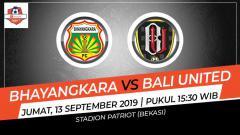 Indosport - Pertandingan Bhayangkara FC vs Bali United.