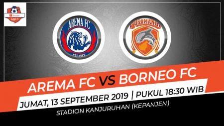 Pertandingan Arema FC vs Borneo FC. - INDOSPORT