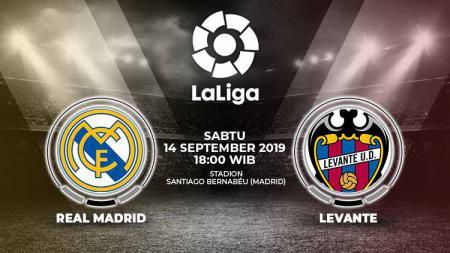 Prediksi pertandingan pekan keempat LaLiga Spanyol 2019/20 antara Real Madrid vs Levante. - INDOSPORT