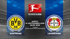 Indosport - Pertandingan Borussia Dortmund vs Bayer Leverkusen.