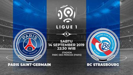 Pertandingan Paris Saint-Germain vs RC Strasbourg. - INDOSPORT