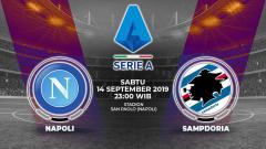 Indosport - Pertandingan Napoli vs Sampdoria.