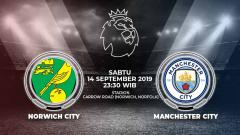 Indosport - Pertandingan Norwich City vs Manchester City.