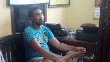 Mantan kiper Persijap Jepara, Danang Wihatmoko, ditangkap Satuan Reserse Narkoba Polres Jepara, Rabu (11/09/19), akibat kasus penyalahgunaan narkotika jenis sabu. - INDOSPORT