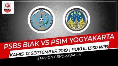 Prediksi PSBS Biak vs PSIM Yogyakarta di Liga 2 2019. - INDOSPORT