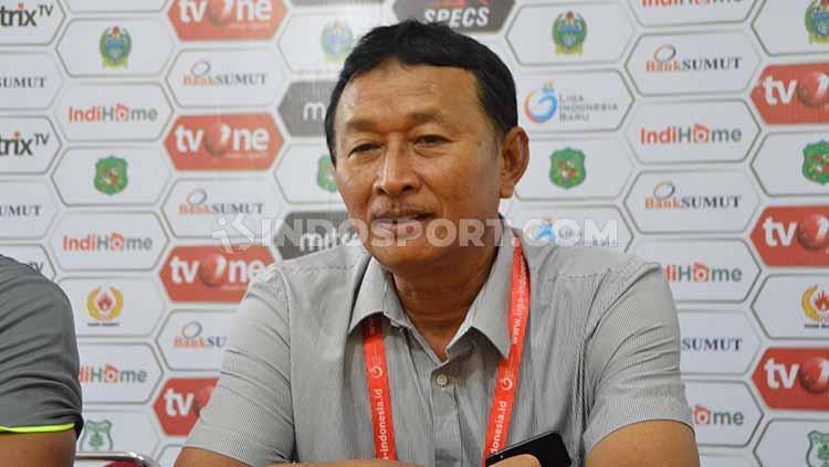 Pelatih PSCS Cilacap, Djoko Susilo Copyright: Aldi Aulia Anwar/INDOSPORT
