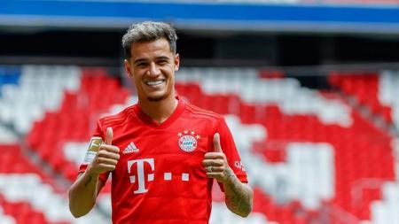 Philippe Coutinho ikut menyumbang satu gol ketika Bayern Munchen menang telak 4-0 atas FC Koln dalam lanjutan laga pekan kelima, Sabtu (21/09/19). Foto: TF-Images/Getty Images. - INDOSPORT