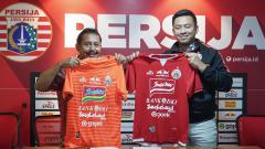 Indosport - Sponsor baru Persija Jakarta.