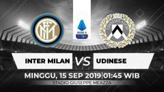 Indosport - Laga pekan ketiga Serie A Italia 2019/20 antara Inter Milan melawan Udinese, Minggu (15/9/19), pukul 01.45 WIB bisa disaksikan langsung secara live streaming.